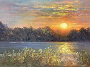 Betty-Huang-Betty-Huang-Evening-Light-at-the-Shore-18-x24-3200