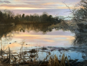 Evie-Baskin-Inlet-Reflections-16x20-oil-by-Evie-Baskin