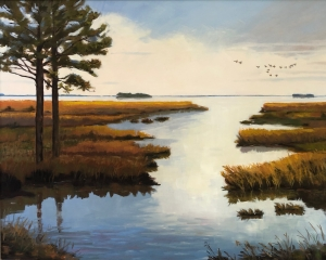 Patti-Lucas-Hopkins-Two-Pines-at-Blackwater-II-oil-24X30-Patti-Lucas-Hopkins