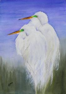 Shirley-Hales-Egret-Pair